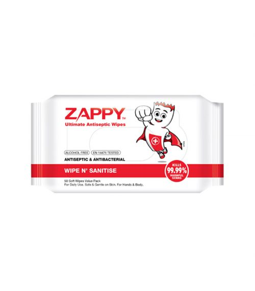 Zappy Ultimate Antiseptic Wipes 50 Sheets